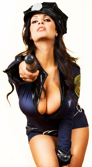 denise milani as a sexy police officer Snow White having sex with the seven dwarfs, a woman having sex with I ...